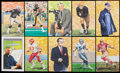Football Collectibles:Others, 1980s-2000s Goal Line Art Pro Football Hall of Fame Unsigned Lot of 426....
