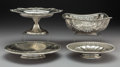 Silver & Vertu:Hollowware, Four American Silver Table Pieces, 20th century . Marks: (various). 5-1/4 x 11 inches (13.3 x 27.9 cm) (tallest, Tiffany & C... (Total: 4 Items)