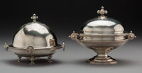 Two American Silver Covered Butter Dishes, William Gale, Jr., New York, mid-19th century; Gorham Manufacturing Co., P