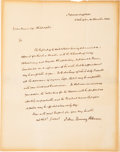 Autographs:U.S. Presidents, John Quincy Adams Letter Signed ...