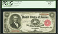 Large Size:Treasury Notes, Fr. 374 $20 1890 Treasury Note PCGS Extremely Fine 40.. ...