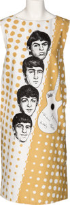 Music Memorabilia:Memorabilia, Beatles Vintage Sleeveless Tan Dress (Holland, 1960s)....