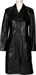 Music Memorabilia:Costumes, Whitney Houston Personally Owned and Screen Worn Versace Istante Leather Jacket (1999)....