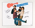 Music Memorabilia:Autographs and Signed Items, Monkees Signed Headquarters Limited Edition Lithograph#20/25 (Rhino, 1996)....
