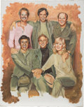 "Movie/TV Memorabilia:Original Art, M*A*S*H Screen Used Cast Painting from ""Picture This"" (20thCentury Fox, 1982)...."