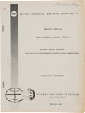 """Explorers:Space Exploration, Apollo: """"Manned Lunar Landing Strategy of System Management and Operations"""" MSC Internal Note Book Directly From The Armst..."""