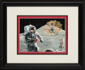 "Explorers:Space Exploration, Dave Scott Signed and Titled ""One Red Bible"" Limited Edition Color Print by Ed Hengeveld with Signed Letter of Authenticity fr..."