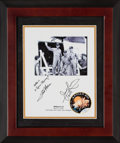 Explorers:Space Exploration, Apollo 13: Crew Photo from the U.S.S. Iwo Jima Signed by James Lovell and Fred Haise, in Framed Display. ...