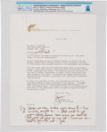 Explorers:Space Exploration, Neil Armstrong: First City Bancorporation of Texas Typed Letter Welcoming Armstrong as a New Stockholder, 1975 Directly From T...