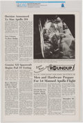Explorers:Space Exploration, Apollo 1: 1966 NASA Houston Manned Spacecraft Center Space News Roundup Newsletter a Front Page Photograph of Astr...