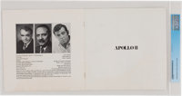Apollo 11 Extravaganza Program Signed by Frank Sinatra Directly From The Armstrong Family Collection™, Certified a