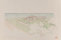 Works on Paper, Frank Lloyd Wright (American, 1867-1959). Two Drawings for the R.W. Lindholm House, Cloquet, Minnesota, circa 1952. Ink,... (Total: 2 Items)