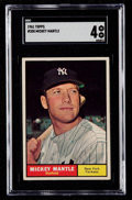Baseball Cards:Singles (1960-1969), 1961 Topps Mickey Mantle #300 SGC VG/EX 4....