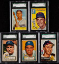 Baseball Cards:Lots, 1952-54 Bowman/Topps SGC Graded Collection (5)....