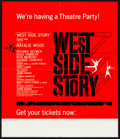 "Movie Posters:Academy Award Winners, West Side Story (United Artists, 1961). Roadshow Premier Poster(14"" X 16.25"") Saul Bass and Joseph Caroff Artwork. Academy ..."