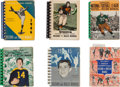 Football Collectibles:Publications, 1941-46 NFL Record and Rules Manuals Lot of 6....