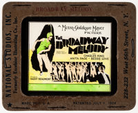 "The Broadway Melody (MGM, 1929). Very Fine-. Glass Slide (3.25"" X 4""). Musical"