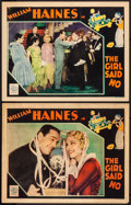 "Movie Posters:Comedy, The Girl Said No (MGM, 1930). Lobby Cards (2) (11"" X 14"") John HeldJr. Artwork. Comedy.. ... (Total: 2 Items)"