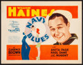 "Movie Posters:Comedy, Navy Blues (MGM, 1929). Title Lobby Card (11"" X 14"") John Held Jr.Artwork. Comedy.. ..."