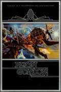 "Movie Posters:Science Fiction, Flash Gordon (Universal, 1980). Rolled, Very Fine-. One Sheet (25"" X 38"") Teaser. Philip Castle Artwork. Science Fiction.. ..."