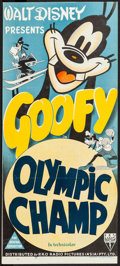 "Movie Posters:Animation, The Olympic Champ (RKO, 1942). Stock Australian Daybill (13"" X 30""). Animation.. ..."