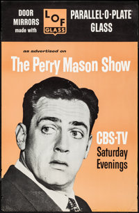 "The Perry Mason Show for LOF Glass (CBS/LOF Glass, 1960s). Television Tie-In Advertising Poster (22"" X 34""). M..."