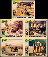 """Tombstone Canyon (Sono Art-World Wide Pictures, 1932). Lobby Cards (5) (11"""" X 14""""). Western. ... (Total: 5 Ite..."""