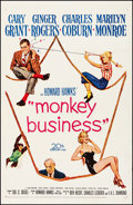 """Movie Posters:Comedy, Monkey Business (20th Century Fox, 1952). One Sheet (27"""" X 41"""").Comedy.. ..."""