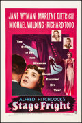 "Movie Posters:Hitchcock, Stage Fright (Warner Brothers, 1950). One Sheet (27"" X 41"").Hitchcock.. ..."