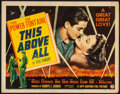 "Movie Posters:War, This Above All (20th Century Fox, 1942). Fine/Very Fine. Title Lobby Card (11"" X 14""). War.. ..."
