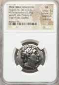Ancients:Greek, Ancients: PTOLEMAIC EGYPT. Ptolemy III Euergetes (246-222 BC). AR stater or tetradrachm (27mm, 13.65 gm, 12h). NGC VF 5/5 - 2/5, Fine St...