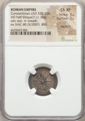 Ancients:Roman Imperial, Ancients: Constantinian Era. Ca. AD 330-355. AR half-siliqua or medalette (17mm, 1.10 gm). NGC Choice XF 3/5 - 3/5, die shift....