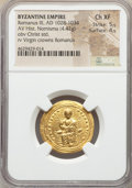 Ancients:Byzantine, Ancients: Romanus III Argyrus (AD 1028-1034). AV histamenon nomisma(23mm, 4.42 gm, 7h). NGC Choice XF 5/5 - 4/5....