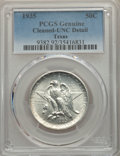 1935 50C Texas -- Cleaning -- PCGS Genuine. Unc Details. NGC Census: (0/1578). PCGS Population: (0/2695). CDN: $115 Whsl...