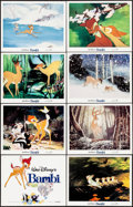 "Movie Posters:Animation, Bambi (Buena Vista, R-1982). Lobby Card Set of 8 (11"" X 14""). Animation.. ... (Total: 8 Items)"