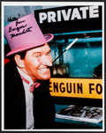 "Movie Posters:Action, Burgess Meredith in Batman (1980s). Convention Photo (8"" X 10""). Action.. ..."
