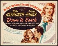 """Down to Earth (Columbia, 1947). Very Fine-. Title Lobby Card (11"""" X 14""""). Musical"""