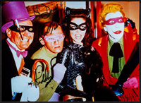 """Frank Gorshin in Batman (1980s). Autographed Convention Photo (8"""" X 11""""). Action"""