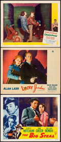 """Movie Posters:Film Noir, The Big Steal & Others Lot (RKO, 1949). Lobby Cards (3) (11"""" X 14""""). Film Noir.. ... (Total: 3 Items)"""