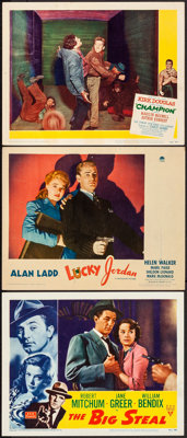 """The Big Steal & Others Lot (RKO, 1949). Lobby Cards (3) (11"""" X 14""""). Film Noir. ... (Total: 3 Items)"""