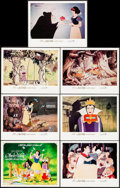 """Movie Posters:Animation, Snow White and the Seven Dwarfs (Buena Vista, R-1983). Title Lobby Card & Lobby Cards (6) (11"""" X 14""""). Animation.. ... (Total: 7 Items)"""