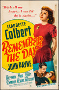 """Movie Posters:Drama, Remember the Day (20th Century Fox, 1941). One Sheet (27"""" X 41""""). Drama.. ..."""