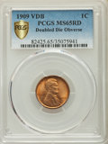 1909 1C VDB Doubled Die Obverse MS65 Red PCGS. PCGS Population: (40/21 and 2/10+). NGC Census: (0/0 and 0/0+). CDN: $1,2...
