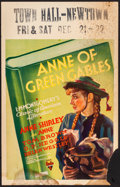 "Movie Posters:Drama, Anne of Green Gables (RKO, 1934). Window Card (14"" X 22""). Drama....."