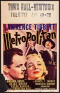 "Movie Posters:Musical, Metropolitan (20th Century Fox, 1935). Window Card (14"" X 22""). Musical.. ..."