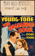 "Movie Posters:Crime, The Unguarded Hour (MGM, 1936). Window Card (14"" X 22""). Crime.. ..."
