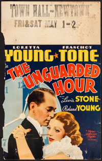 "The Unguarded Hour (MGM, 1936). Window Card (14"" X 22""). Crime"