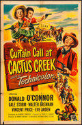 "Movie Posters:Comedy, Curtain Call at Cactus Creek (Universal International, 1950). OneSheet (27"" X 41""). Comedy.. ..."