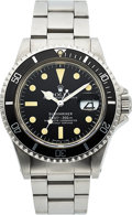 Timepieces:Wristwatch, Rolex, Ref. 1680, Stainless Steel Submariner, Circa 1977. ...