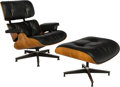 Furniture , Charles Eames (American, 1907-1978) & Ray Kaiser Eames (American, 1912-1988). Eames Lounge Chair (670) and Ottoman (671)... (Total: 2 Items)